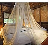 Vetrineinrete® Zanzariera baldacchino per letto matrimoniale bianca tenda 60x250x1200 cm protezione contro insetti e zanzare mosquito net
