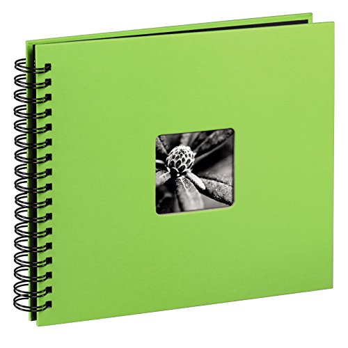 Preisvergleich Produktbild Hama Jumbo Fotoalbum (36 x 32 cm, 50 schwarze Seiten, mit Ausschnitt für Bildeinschub) 25 Blatt, kiwi