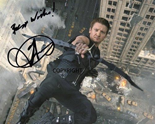 Limited Edition Jeremy Renner Hawkeye unterzeichnet Foto Autogramm signiertsigniertes (Foto-und Autogramm-buch)