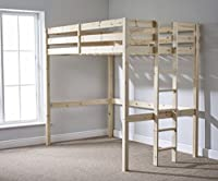 Double Loft Bunk Bed - 4ft 6 wooden high sleeper bunkbed - CAN BE USED BY ADULTS