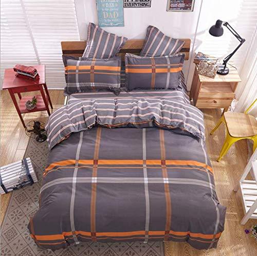SHJIA Bettwäsche Set Schwarz Farbe Cartoon Bettbezug Blatt Bettdecke Einzel Voll Königin King Size Bettwäsche Für Kinder Lila 220x240 cm