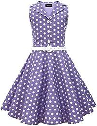 BlackButterfly Niñas 'Holly' Vestido de Lunares Vintage Años 50