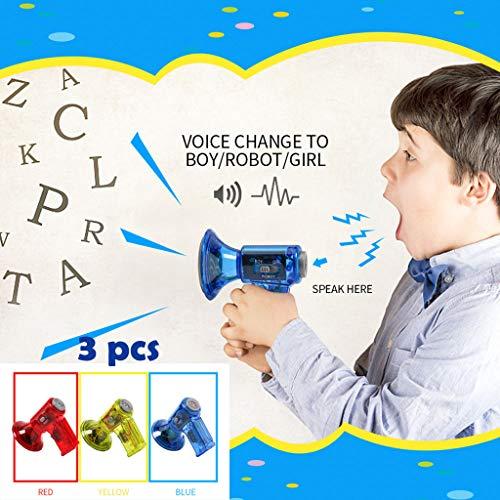 TianranRT 3 stücke lustig multi stimme wechsler verstärker 3 differ stimmen spielzeug lautsprecher kinder geschenk