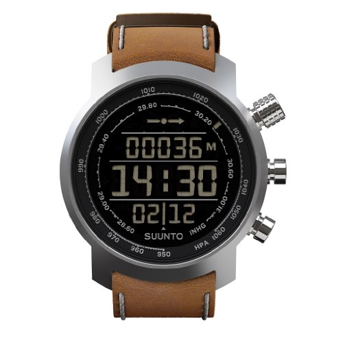 Suunto Elementum Terra N/Brown Leather Orologio, Unisex Adulto, Marrone/Argento