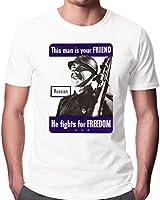 World War Two Russian Friend Men's Fashion Quality Heavyweight T-Shirt.