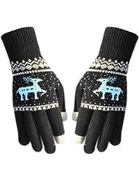 d80a3f05900fcb Hoxin Unisex Winter Weihnachten Rentier geometrische Muster Handschuhe,  Full Fingered…