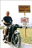 Poster 40 x 60 cm: Steve McQueen auf Einem Motorrad von Everett Collection - Hochwertiger Kunstdruck, Kunstposter