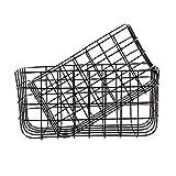 Basket, Simply, black, set of 2 sizes: S: 20x28 cm, h.: 16 cm, L:24x32 cm, h.: 16 cm