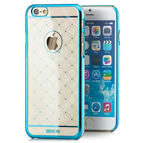 Hoco. Apple iPhone 6 / 6S Hülle Slim Case Cover Hardcase Schutzhülle | Pink Bumenmuster Blau