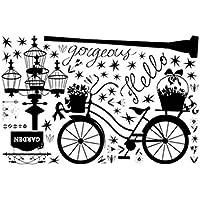 LUFA 60x90cm Farolas de bicicletas Patrones niños pared de la sala pegatinas tatuaje removible auto-adherencia Vinilos decorativos