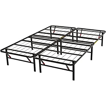 cheaper c0072 b2e75 AmazonBasics Queen Foldable Steel Bed with Tool-Free Assembly