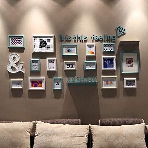 BJYG Moderne Einfachheit Kreative Kombination Schlafzimmer Rahmen Wand Wohnzimmer Restaurant Original Gemälde Herz Massivholz Foto Wanddekoration Komfortable Und Warme qualität (Farbe: A)