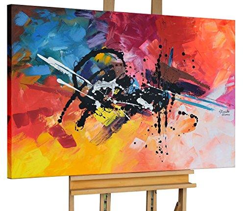 KunstLoft® Acryl Gemälde 'Spreading Warmness' 120x80cm | original handgemalte Leinwand Bilder XXL | Abstrakt Bunt | Wandbild Acrylbild Moderne Kunst einteilig mit Rahmen