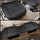 LPY-Auto-Sitzkissen, Auto-Sitzbezüge [Leder] Atmungsaktives bequemes Auto-Kissen, Autositz-Schutz , black