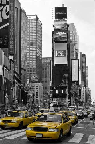 Posterlounge Acrylglasbild 20 x 30 cm: New York City Times Square von Melanie Viola - Wandbild, Acryl Glasbild, Druck auf Acryl Glas Bild