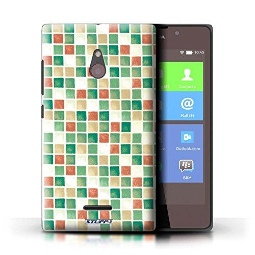 Kobalt® Imprimé Etui / Coque pour Nokia XL / Bleu/Blanc conception / Série Carreau Bain Vert/Rouge