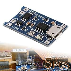 XCSOURCE Carte chargeur de batterie au lithium 5 pcs 1A 5V Micro USB TP4056 TE420