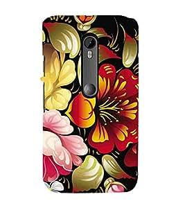 For Motorola Moto G3 :: Motorola Moto G (3rd Gen) :: Motorola Moto G (Gen 3) :: Motorola Moto G Dual SIM (3rd Gen) :: Motorola Moto G3 Dual SIM floral pattern ( nice pattern , beautiful pattern, floral pattern, flower, pattern ) Printed Designer Back Case Cover By Living Fill