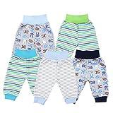 TupTam Unisex Baby Pumphose Jersey Schlupfhose 5er Pack, Farbe: Junge, Größe: 68