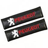 Protrex UK Effet fibre de carbone pour ceinture de sécurité Coussinets d'épaule GTI 106 206 3008 405 307 308 505 406 308 1007 2008 4008 4007 Bipper Boxer RCZ Partner