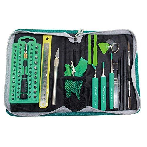Pro'skit Pro Tech Tool Kit komplettes Reparaturset, Werkzeugset für Smartphone / PC / Handy / Tablet / Laptop / Elektronik / Konsole -