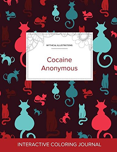 Adult Coloring Journal: Cocaine Anonymous (Mythical Illustrations, Cats)