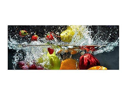 Obst Wasser Glasbilder Echtglas Wandbilder Glas 125 x 50cm AG312502198 / Deco Glass, Design & Handmade / Eyecatcher, Kunstdruck! (Art-glas-panel, Wand)