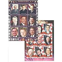 Francobolli da collezione - francobolli presidente statunitense nella collezione - 2 di menta e Foglietti (Francobolli Washington)