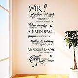 Wandtattoo Wir sind eine tolle Familie | Spruch, Zitat, Wandaufkleber Wohnzimmer Braun 800 142 x 60 cm (HxB)