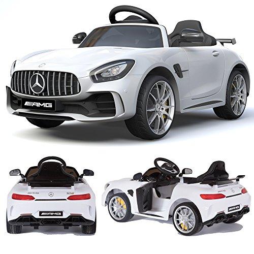 Mercedes-Benz GT-R GTR SoftStart Kinderauto Kinderfahrzeug Kinder Elektroauto Weiss