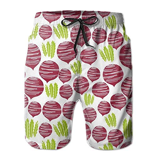 Paint0 Fall Vegetables Thanksgiving Men's Quick Dry Beach Board Shorts Summer Swim Trunks XXL -