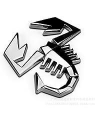 Création logo métal Automobile Abarth Scorpion vinyle autocollants décoratifs corps standard