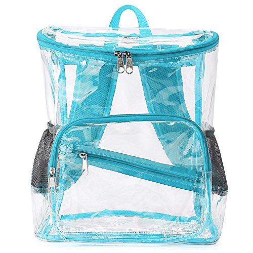 Clear backpack – Zicac Sac à dos Transparent Plage pour Femme Fills Capacité15 L