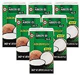 Paquete de 6 Leche de coco AROY-D [6x 250 ml] Leche de coco ~ Leche de coco