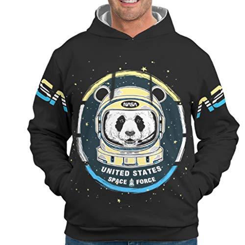 NeiBangM Herren Fashion Sweatjacke Pullover NASA Logo 2 Longsleeve Langarm Kapuzenpullover Sweatjacke Für Jugenden White 4XL