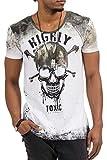 trueprodigy Casual Hombre marca Camiseta estampado ropa retro vintage rock vestir moda cuello redondo manga corta slim fit designer cool urban fashion t-shirt color blanco 10731...