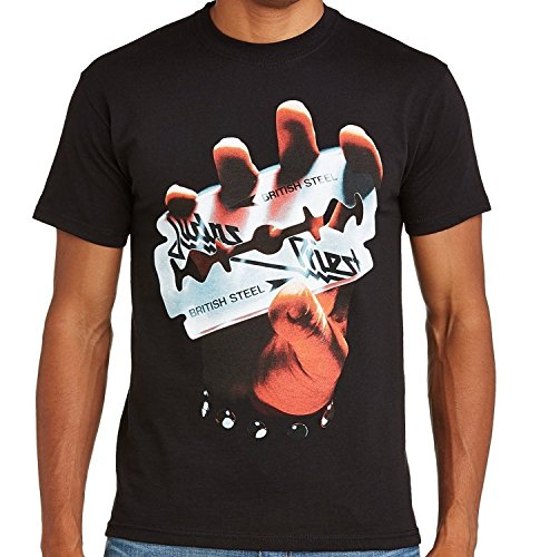Judas Priest–British Steel Band camiseta negro M