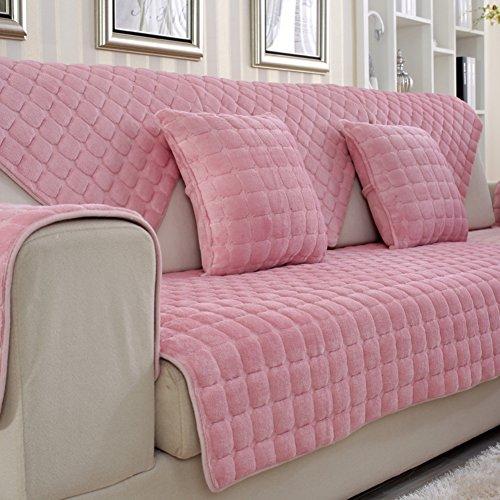 peluche divano cuscini/ asciugamano di flanella tessuto divano/European-style imbottito cuscini semplice moderno in pelle antiscivolo telo copridivano delle quattro stagioni-D 90x70cm(35x28inch)