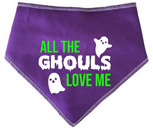 Spoilt Rotten Pets Hunde-Halstuch, Aufschrift All The Ghouls Love Me, Violett (Ghoul Halloween Kostüme)
