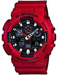 Casio G-Shock Analog-Digital Black Dial Men's Watch - GA-100B-4ADR (G344)