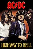 empireposter 717962 AC/DC – Highway To Hell – Póster de música heavy metal Hard Rock, papel, multicolor, 91,5 x 61 x 0,14 cm