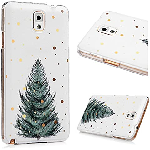 Cover Custodia per Samsung Galaxy Note 3 Case PC Policarbonato Duro Ultra Sottile Leggero KASOS Anti-Graffio Anti-Scossa Anti-Polvere con Modello di Albero di Natale