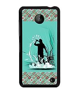 PrintVisa Metal Printed Music Designer Back Case Cover for Mnokia Lumia 630-D4926