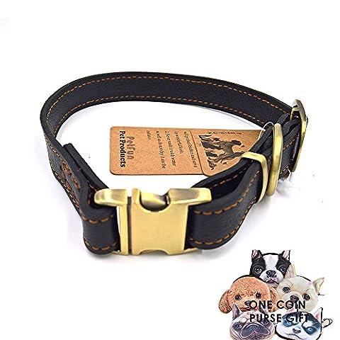 petfun verstellbar Extreme Dick Langlebig Leder Schlupfhalsband, die Solide Hardware variieren in Größe und Farbe für alle Hunde
