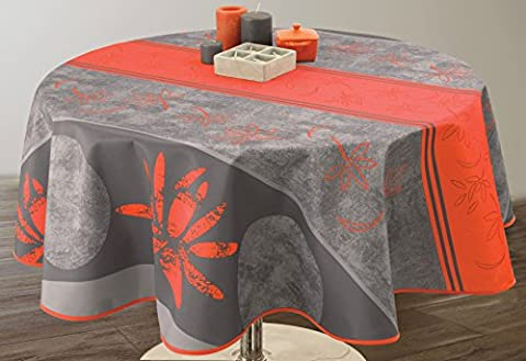 Nappe anti-taches Lotus rouge - taille : Ovale 150x240 cm