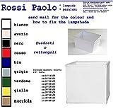 Lampenschirm quadratisch oder rechteckig aus Stoff und PVC–Eigene Herstellung–Made in Italy cm 16