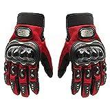 Probiker Full Finger Gloves for Bikers (Red, L)
