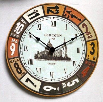 HoEOQeT Vintage Wanduhr dekorative Wand Diagramm Schlafzimmer Kunst Uhr kreative Wohnzimmer Mute Wanduhr Turm Brücke Paris Eiffelturm St. Pauls CathedralWooden Uhr (Design : 3)