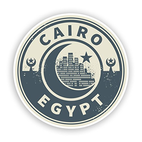 Preisvergleich Produktbild 2x Ägypten Kairo Vinyl Aufkleber Reise Gepäck # 7435 - 10cm/100mm Wide