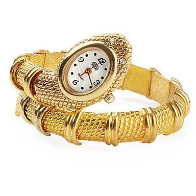 Andante 14K Gold Schlange Stil Armbanduhr - Quarz - Analog - Wasserdicht - AS5011
